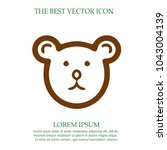 teddy bear head vector icon eps ... | Shutterstock .eps vector #1043004139