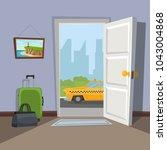 an open doorway to the city.... | Shutterstock .eps vector #1043004868