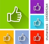 illustration of thumb icons... | Shutterstock .eps vector #1043005264