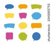 speech bubbles. vector... | Shutterstock .eps vector #1043005753