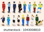 profession isometric set of... | Shutterstock . vector #1043008810