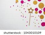 confetti. festive mood. party.  ... | Shutterstock . vector #1043010109
