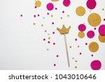 confetti. festive mood. party.  ... | Shutterstock . vector #1043010646