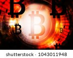 bitcoin cryptocurrency concept  ... | Shutterstock . vector #1043011948