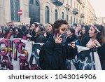 milan  italy   march 8 ... | Shutterstock . vector #1043014906