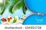 background with photos from... | Shutterstock .eps vector #104301728