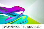 abstract dynamic interior with... | Shutterstock . vector #1043022130