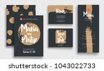 wedding invitation card suite... | Shutterstock .eps vector #1043022733
