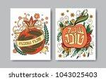 rosh hashanah   jewish new year ... | Shutterstock .eps vector #1043025403