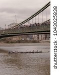 Small photo of London, United Kingdom on March 10th 2018. People standing on Hammersmith Bridge watching Head Of The River.