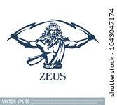 zeus vector illustration   Shutterstock .eps vector #1043047174