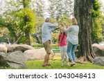 happy family  mother father and ... | Shutterstock . vector #1043048413