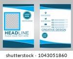 business brochure flyer design... | Shutterstock .eps vector #1043051860