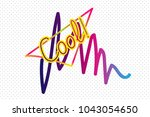 pop art and memphis stickers ... | Shutterstock .eps vector #1043054650