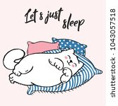 vector illustration of lazy... | Shutterstock .eps vector #1043057518