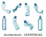 collection of  various plastic... | Shutterstock . vector #1043058166