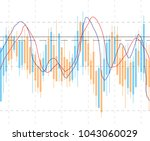abstract business chart with...   Shutterstock . vector #1043060029