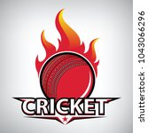 cricket logo. modern sport... | Shutterstock .eps vector #1043066296