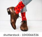 bright  funny socks  vintage ... | Shutterstock . vector #1043066536