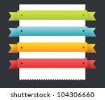 set of color ribbons | Shutterstock .eps vector #104306660