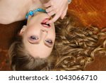 close up portrait of a charming ... | Shutterstock . vector #1043066710