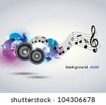 abstract music background with...