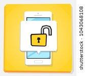 smartphone 3d isometry flat... | Shutterstock .eps vector #1043068108