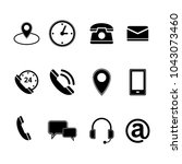 contact us icons set | Shutterstock .eps vector #1043073460