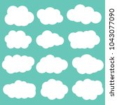 clouds on blue background...   Shutterstock .eps vector #1043077090