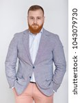 red haired beard man in casual...   Shutterstock . vector #1043079730