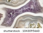 closeup of a polished banded... | Shutterstock . vector #1043095660