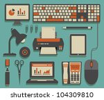office icons | Shutterstock .eps vector #104309810