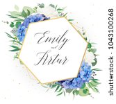 wedding floral invite  save the ... | Shutterstock .eps vector #1043100268