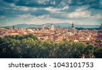 aerial panoramic view of rome ... | Shutterstock . vector #1043101753