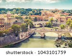 aerial panoramic view of rome ... | Shutterstock . vector #1043101759