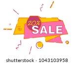 sale banner template design.... | Shutterstock .eps vector #1043103958