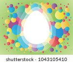 easter colorful poster with... | Shutterstock .eps vector #1043105410