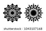 set of two vector mandalas.... | Shutterstock .eps vector #1043107168