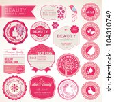 collection of cosmetics labels... | Shutterstock .eps vector #104310749