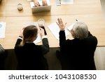 senior businessman and... | Shutterstock . vector #1043108530