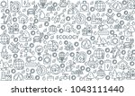 thin line design banner on... | Shutterstock .eps vector #1043111440