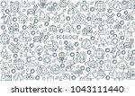thin line design banner on... | Shutterstock .eps vector #1043111440