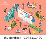 lead generation flat isometric... | Shutterstock .eps vector #1043111470