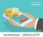 cryptocurrency exchange flat... | Shutterstock .eps vector #1043111479
