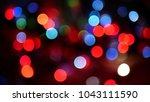 out of focus multicolored... | Shutterstock . vector #1043111590