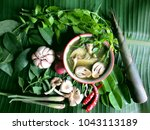 Concept Thai Herbal Spice Of...