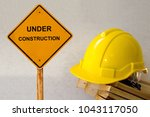 safety hardhat with message...   Shutterstock . vector #1043117050