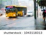 heavy rainfall and flood on...   Shutterstock . vector #1043118313