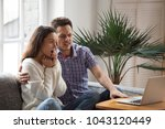 scared man embracing shocked...   Shutterstock . vector #1043120449