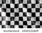 waving checkered flag ... | Shutterstock . vector #1043122609